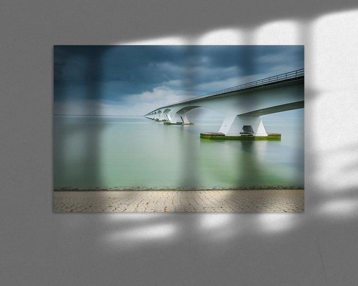 Sfeerimpressie: Lange sluitertijd Zeelandbrug (X) van Mirjam Boerhoop - Oudenaarden