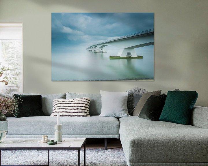 Sfeerimpressie: Lange sluitertijd Zeelandbrug (XI) van Mirjam Boerhoop - Oudenaarden