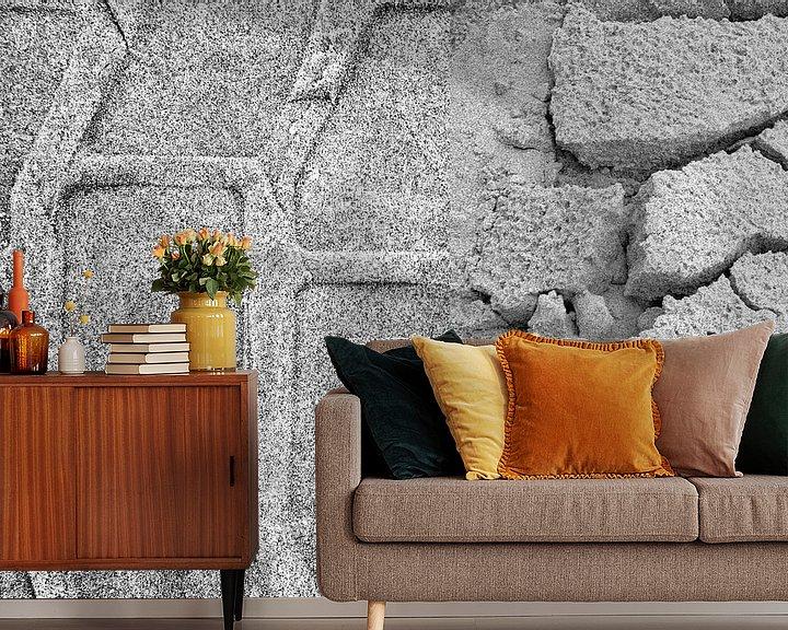 Sfeerimpressie behang: Tweeluik sporen strand Terschelling van Watze D. de Haan