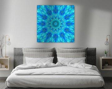 Mandala blauw 9