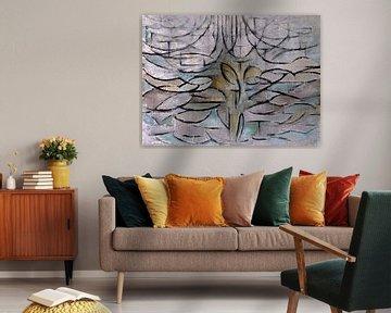 Blühender Apfelbaum - Piet Mondrian