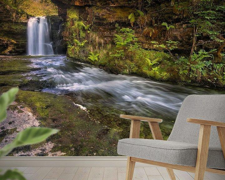 Sfeerimpressie behang: The fountain of life... van Sander Poppe