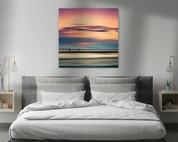 Repos nocturne - coucher de soleil sur l'océan Atlantique sur Dirk Wüstenhagen