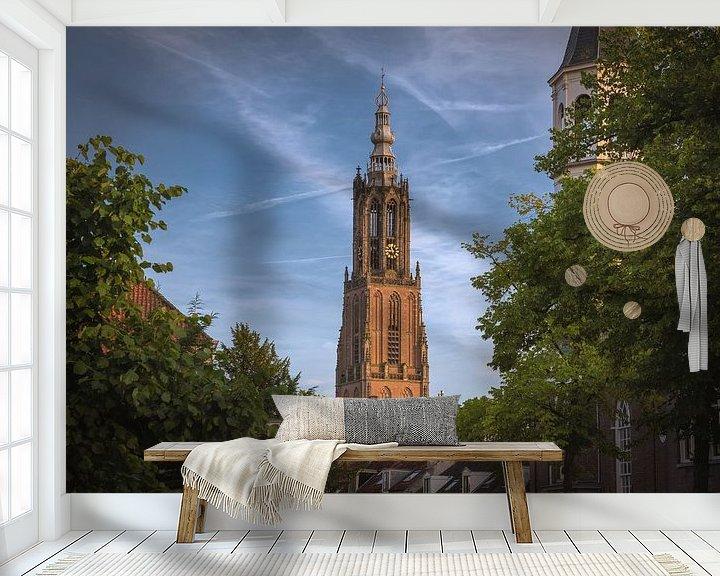 Sfeerimpressie behang: Lange Jan Amersfoort van Albert Dros