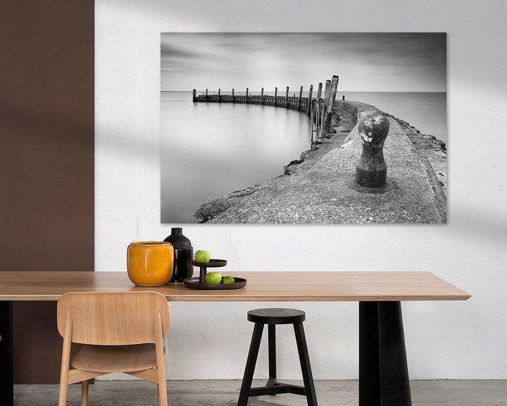 Impression: Little harbor in Holland sur Jan van der Vlies