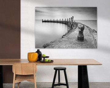 Kleine haven in Nederland, Zeeland von Jan van der Vlies