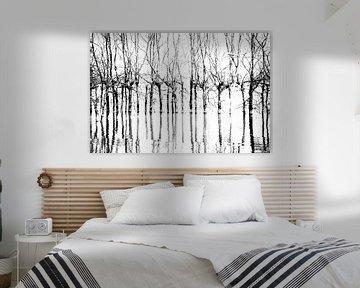 Bomen in Biesbosch von Erik Snoey