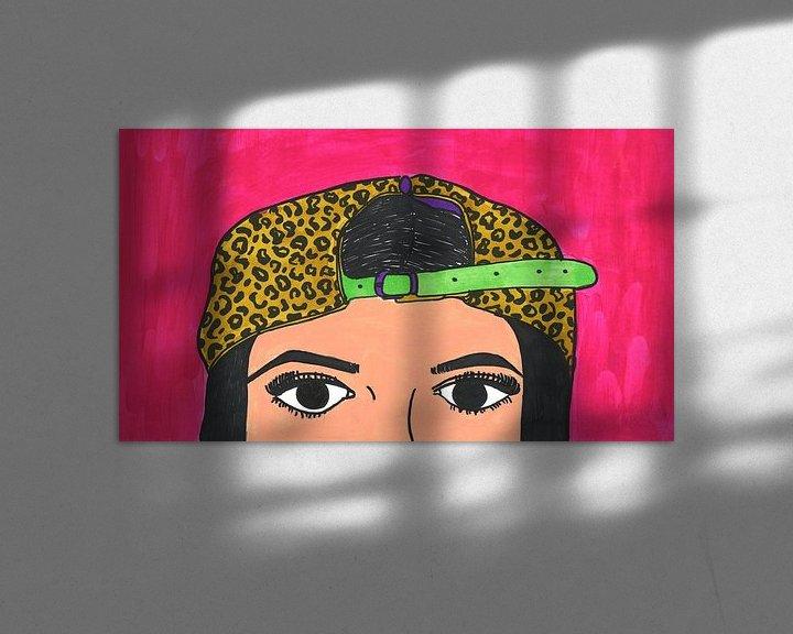 Sfeerimpressie: Vrouw met panterpet van Schildermijtje Shop
