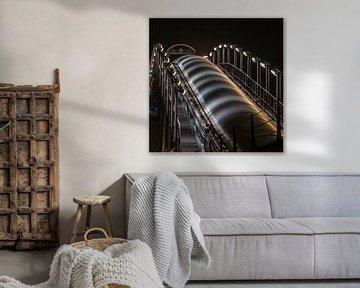 Energiecentrale bij nacht von Erik Snoey