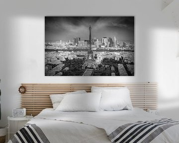 Paris Skyline | Monochrom von Melanie Viola