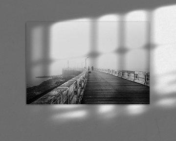 Belgie - Nieuwpoort - een mistige dag bij de pier von Fotografie Krist / Top Foto Vlaanderen