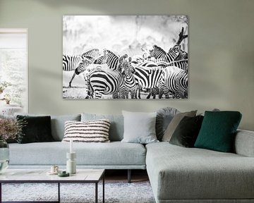 Zebras in Serengeti Tansania von Leon van der Velden