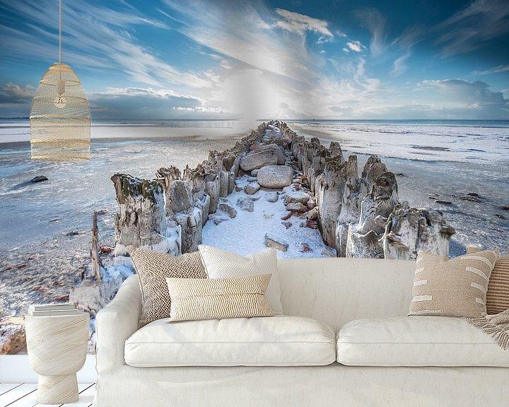 Sfeerimpressie behang: Winter in Hindeloopen van Tara Kiers