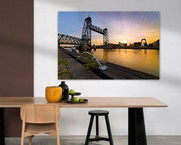 De Hef met een gouden rivier te Rotterdam