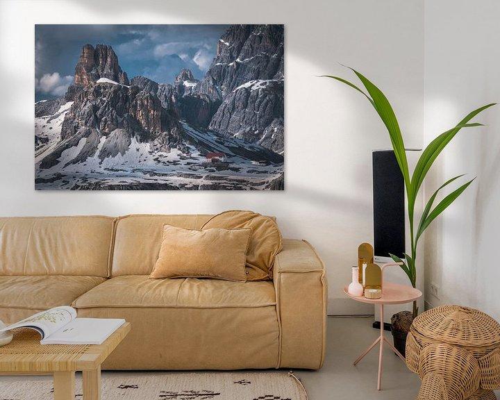Sfeerimpressie: Rock formations in the Dolomites van michael regeer