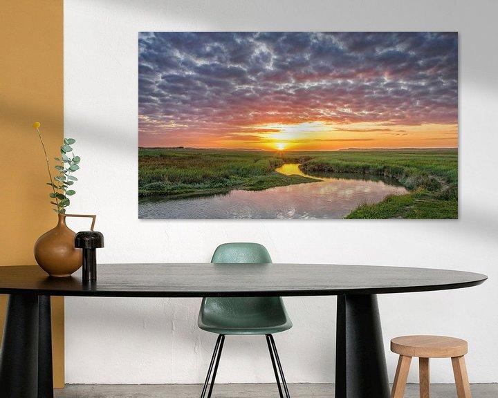 Sfeerimpressie: Zonsondergang op Texel / Texel Sunset van Justin Sinner Pictures ( Fotograaf op Texel)