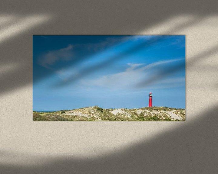 Impression: Red lightouse of Schiermonnikoog in the dunes sur Martzen Fotografie