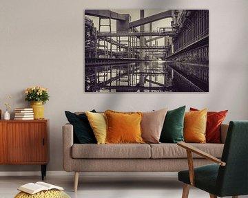 Oude fabriek reflectie horizontaal