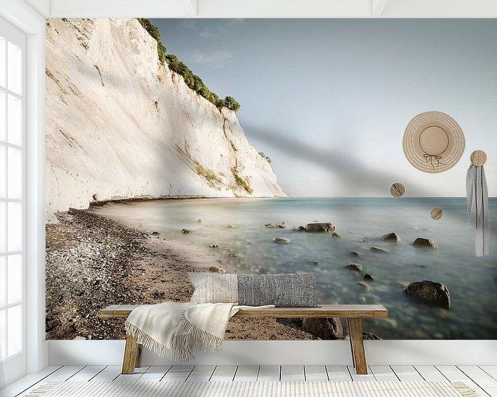 Sfeerimpressie behang: Møns Klint Denmark van Claire Droppert