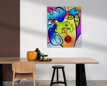 Schilderij World of Thoughts - een abstract schilderij von Kunst Company
