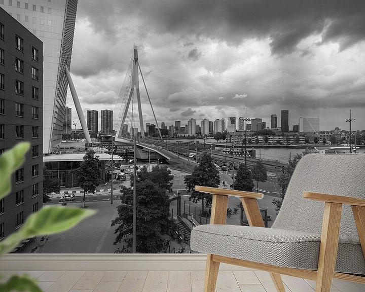 Sfeerimpressie behang: Het uitzicht op het Wilhelminaplein in Rotterdam van MS Fotografie | Marc van der Stelt