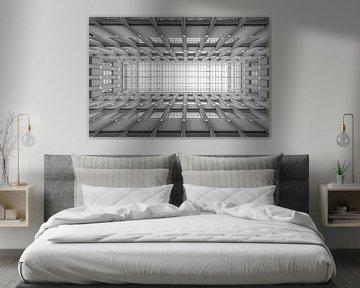 Die architektonische Decke des Blaak Hauses in Rotterdam von MS Fotografie | Marc van der Stelt