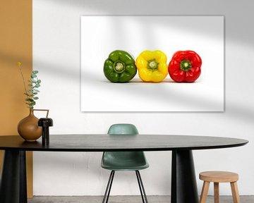 Gekleurde paprika's sur Marcel Mooij