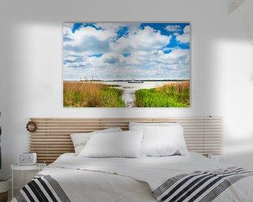 Landscape on a lake van Rico Ködder