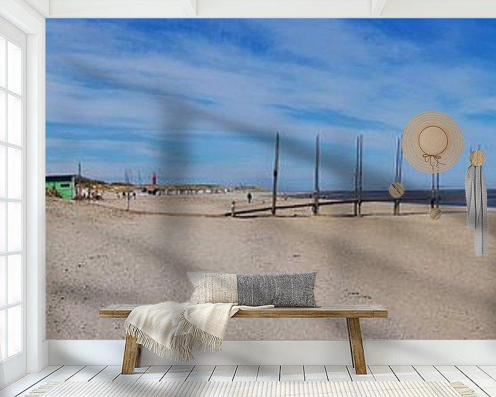 Sfeerimpressie behang: Steiger Texel van Ronald Molegraaf