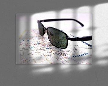 Stadsplattegrond, Sylt, zonnebrillen van Norbert Sülzner