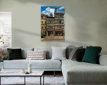 Vakwerkhuizen in  Rouen.