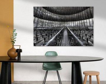 Inside a cooling tower van Patrick LR Verbeeck