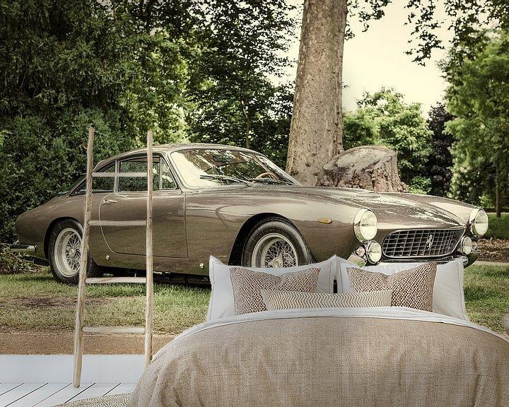 Sfeerimpressie behang: Ferrari 250 GT Berlinetta Lusso klassieke Italiaanse GT-auto van Sjoerd van der Wal