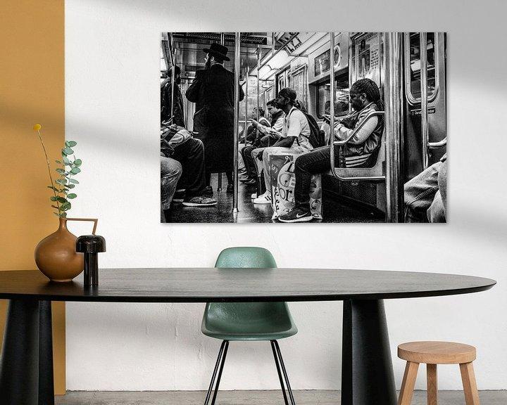Sfeerimpressie: Subway Manhattan New York City van Eddy Westdijk