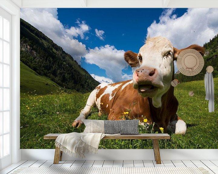 Impression: Vache en Autriche sur Cynthia Hasenbos