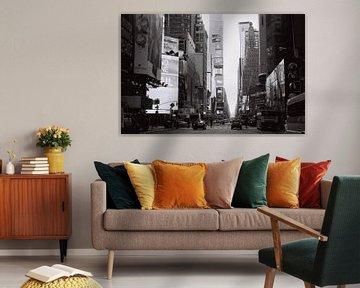 Times Square, New York, zwart wit (analoog)