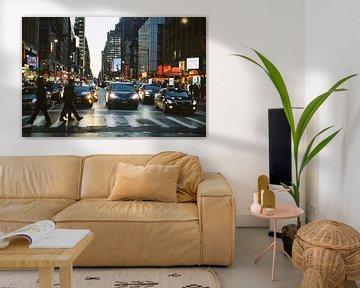 Zebrapad in New York, Verenigde Staten (analoog)