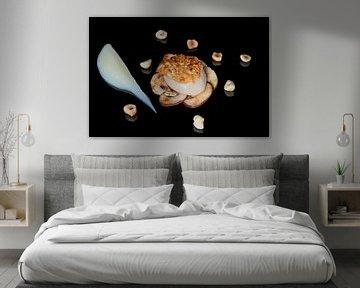Coquille op een bedje van champignons van Henny Brouwers