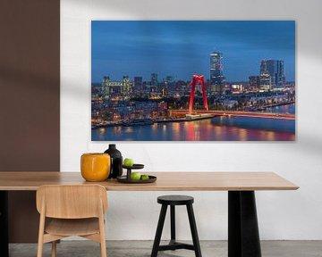 De Hef en de Willemsbrug in Rotterdam met nieuwe verlichting van MS Fotografie | Marc van der Stelt