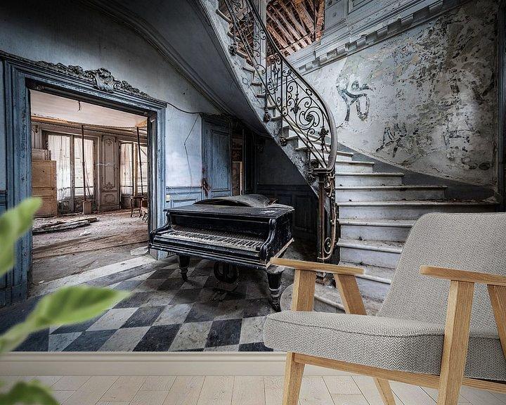 Beispiel fototapete: Klavier im Treppenhaus von Inge van den Brande