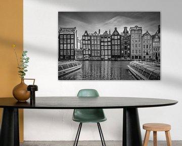 AMSTERDAM Damrak mit tanzenden Häusern von Melanie Viola