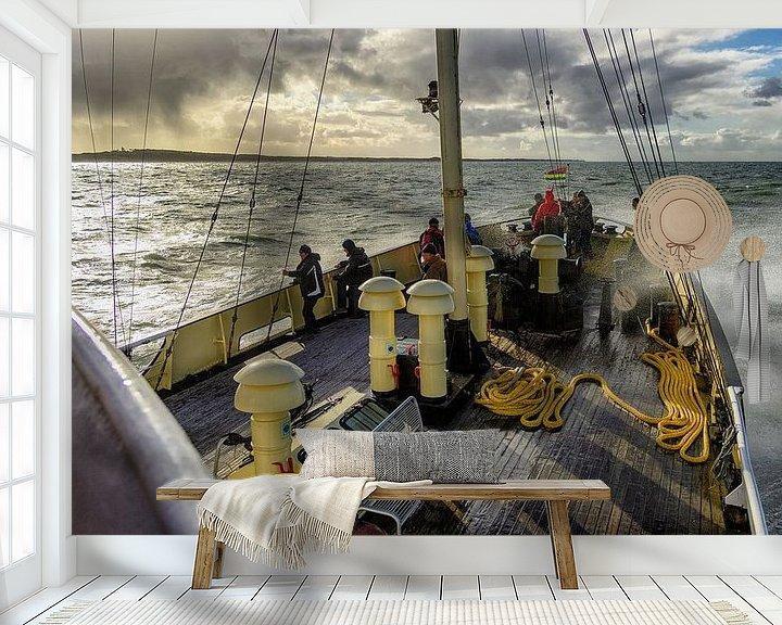 Sfeerimpressie behang: Zeebenentocht m.s. Holland van Roel Ovinge