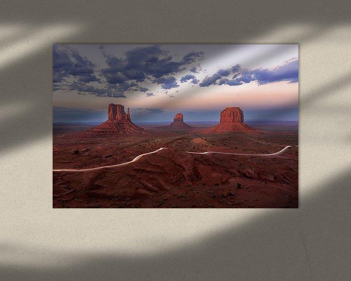 Sfeerimpressie: Monument Valley, Three Mittens van Sander Sterk