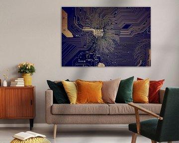 Hauptplatine Architektur Blau von Alex Hiemstra