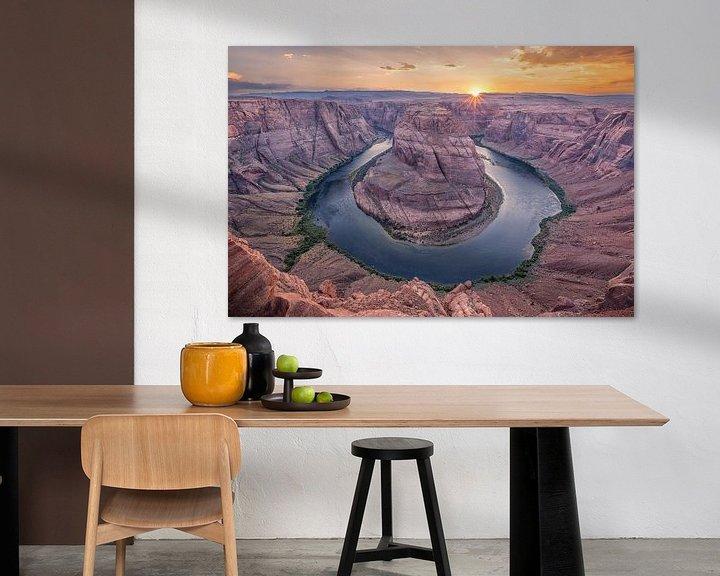 Sfeerimpressie: Horseshoe Bend, Page, Arizona van Sander Sterk