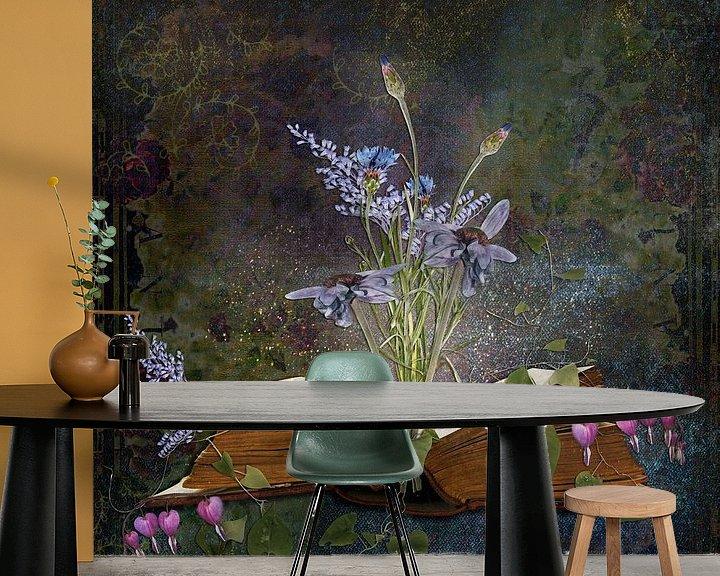 Sfeerimpressie behang: Book of inspiration - bloemen van Studio Papilio