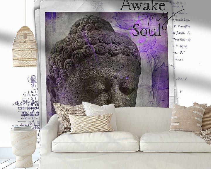 Sfeerimpressie behang: Awake my soul - boeddha van Studio Papilio