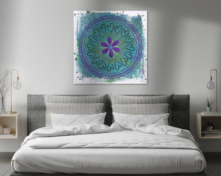 Sfeerimpressie: Circle of love - mandala van Studio Papilio
