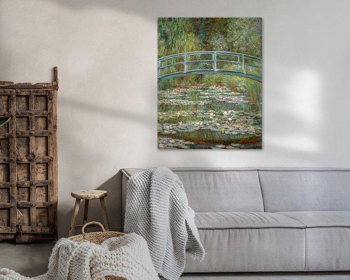 Beispiel: Japanische Brücke im Garten von Giverny, Claude Monet