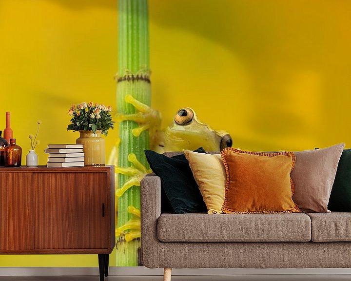 Sfeerimpressie behang: geel van hanny bosveld